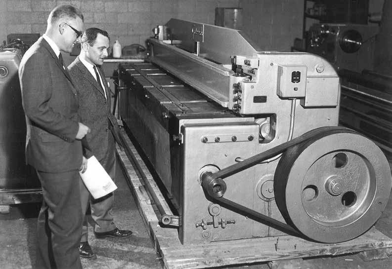 Historical image of machine