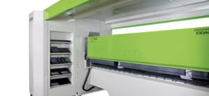 PRO Z up down sheet metal folder folding beam upper position - CIDAN Machinery Americas
